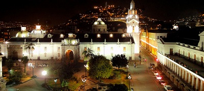 Ecuador Cuenca at Night