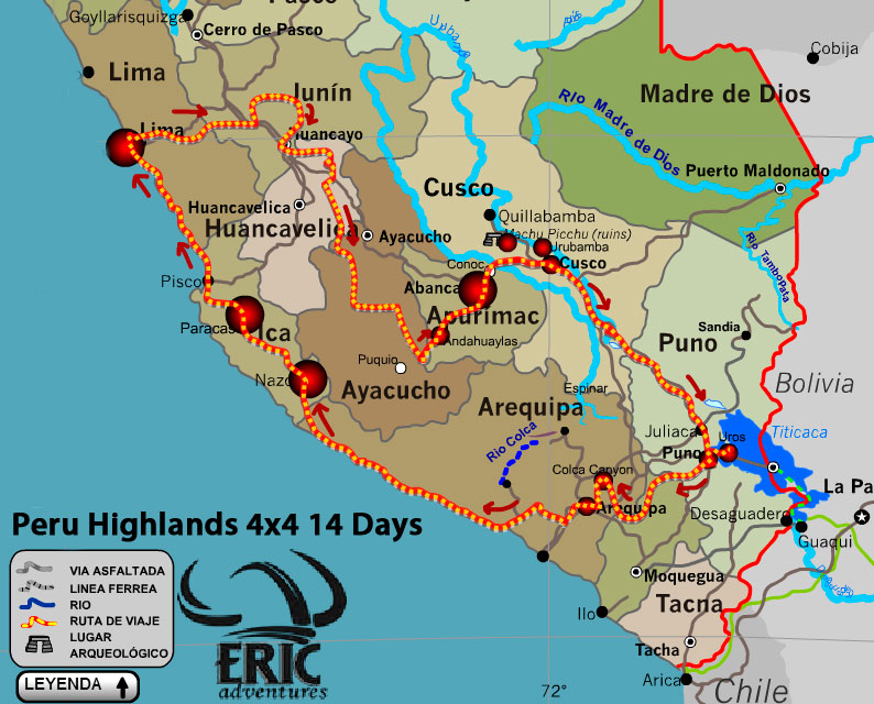 Peru Highlands 4x4 Motorcycle Tours