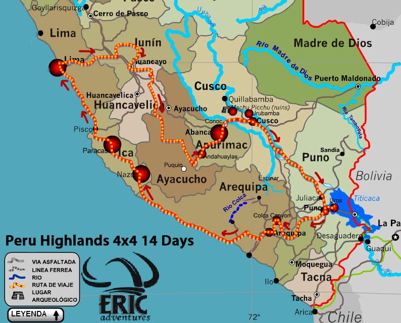 Peru Highlands 4x4 Motorcycle Tours