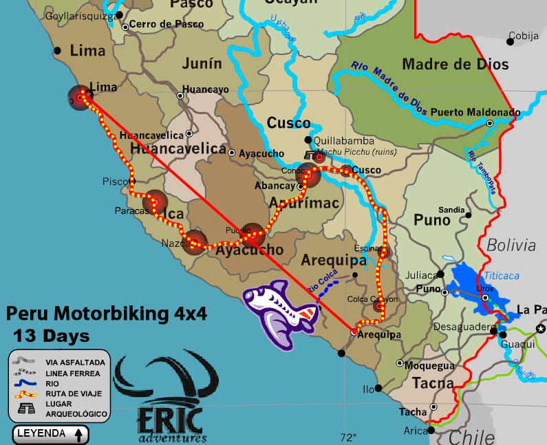 Motocyclette Et Expeditions Perou 13 Jours Excursion En