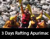 Get fun in our 3 Days Rafting Apurimac