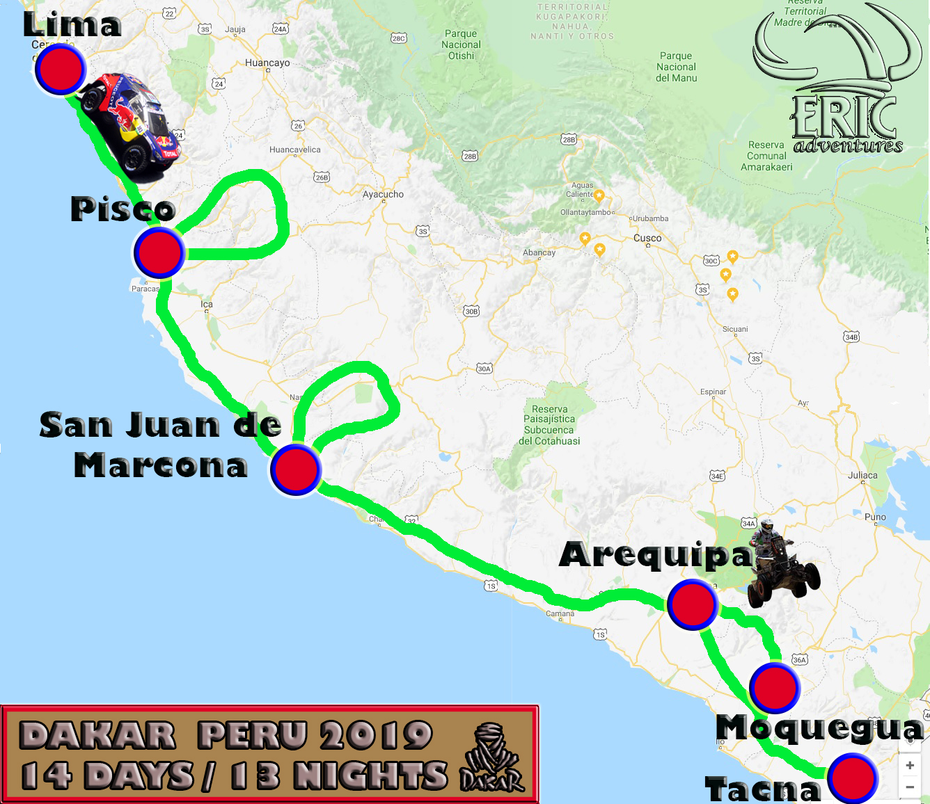 Dakar 2019 14 Days Motorbike Packages Peru