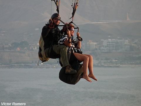 Paragliding, Lima Peru