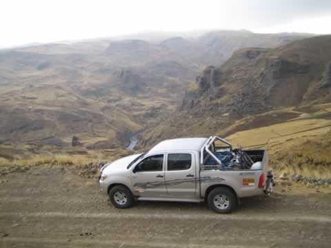 4x4 Tour Route Cusco to Macusani